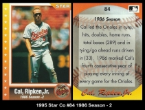 1995 Star Co #84 1986 Season - 2
