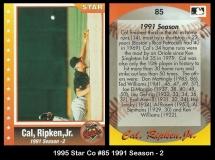 1995 Star Co #85 1991 Season - 2