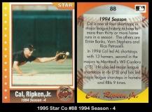 1995 Star Co #88 1994 Season - 4