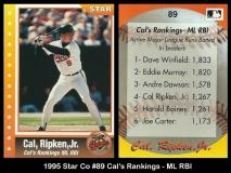 1995 Star Co #89 Cals Rankings - ML RBI