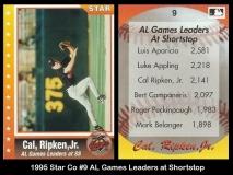 1995 Star Co #9 AL Games Leaders at Shortstop