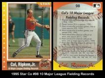 1995 Star Co #98 10 Major League Fielding Records