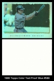 1995 Topps Color Test Proof Blue #588