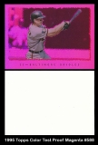 1995 Topps Color Test Proof Magenta #588