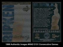 1996 Authentic Images #NNO 2131 Consecutive Games