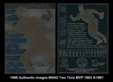 1996 Authentic Images #NNO Two Time MVP 1983 & 1991