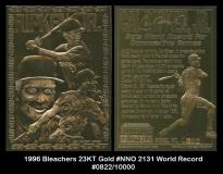1996 Bleachers 23KT Gold #NNO 2131 World Record