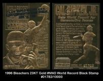 1996 Bleachers 23KT Gold #NNO World Record Black Stamp