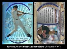 1996 Bowmans Best Cuts Refractors Uncut Proof #11