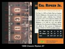 1996 Classic Ripken #7
