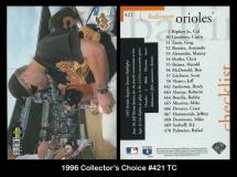 1996 Collectors Choice #421 TC