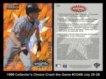 1996 Collectors Choice Crash the Game #CG4B July 25-28