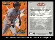1996 Collectors Choice Crash the Game #CG4C Sept 2-4