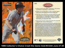 1996 Collectors Choice Crash the Game Gold #CG4 June 27-30