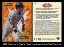 1996 Collectors Choice Crash the Game Gold #CG4C Sept 2-4