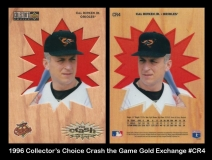 1996 Collectors Choice Crash the Game Gold Exchange #CR4