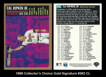 1996 Collectors Choice Gold Signature #362 CL