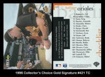 1996 Collectors Choice Gold Signature #421 TC