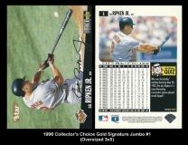 1996 Collector's Choice Gold Signature Jumbo #1