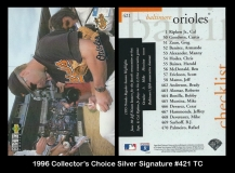 1996 Collectors Choice Silver Signature #421 TC