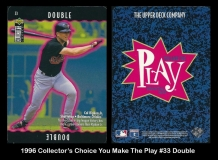 1996 Collectors Choice You Make The Play #33 Double