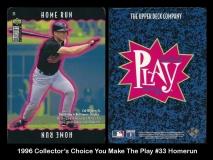 1996 Collectors Choice You Make The Play #33 Homerun