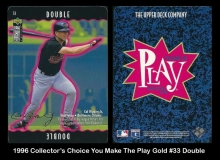 1996 Collectors Choice You Make The Play Gold #33 Double