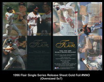 1996-Flair-Single-Series-Release-Sheet-Gold-Foil-NNO