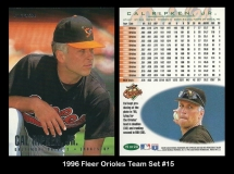 1996 Fleer Orioles Team Set #15