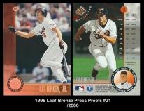 1996 Leaf Bronze Press Proofs #21