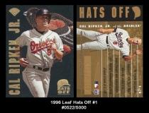 1996 Leaf Hats Off #1