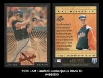 1996 Leaf Limited Lumberjacks Black #3