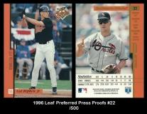 1996 Leaf Preferred Press Proofs #22