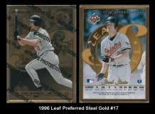 1996 Leaf Preferred Steel Gold #17