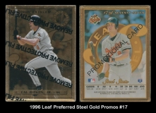 1996 Leaf Preferred Steel Gold Promos #17