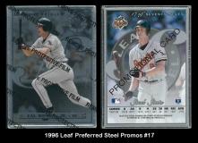 1996 Leaf Preferred Steel Promos #17