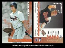 1996 Leaf Signature Gold Press Proofs #15