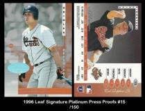 1996 Leaf Signature Platinum Press Proofs #15