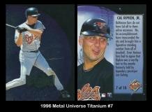 1996 Metal Universe Titanium #7