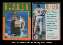 1996 CUI Metal Cards #1 Batting Black Jersey
