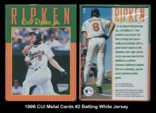 1996 CUI Metal Cards #2 Batting White Jersey