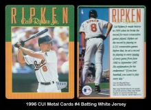 1996 CUI Metal Cards #4 Batting White Jersey