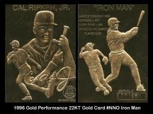 1996 Gold Performance 22KT Gold Csrd #NNO Iron Man