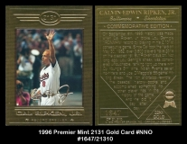 1996 Premier Mint 2131 Gold Card #NNO