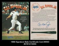 1996-Signature-Bats-Certificate-Card-NNO