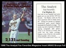 1996 The Analyst Fan Favorites Magazine Insert #NNO Bronze Foil