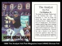 1996 The Analyst Hot Pick Magazine Insert #NNO Bronze Foil