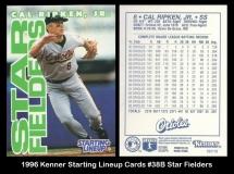 1996 Kenner Starting Lineup Cards #38B Star Fielders