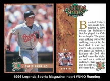 1996 Legends Sports Magazine Insert #NNO Running