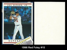 1996 Red Foley #15